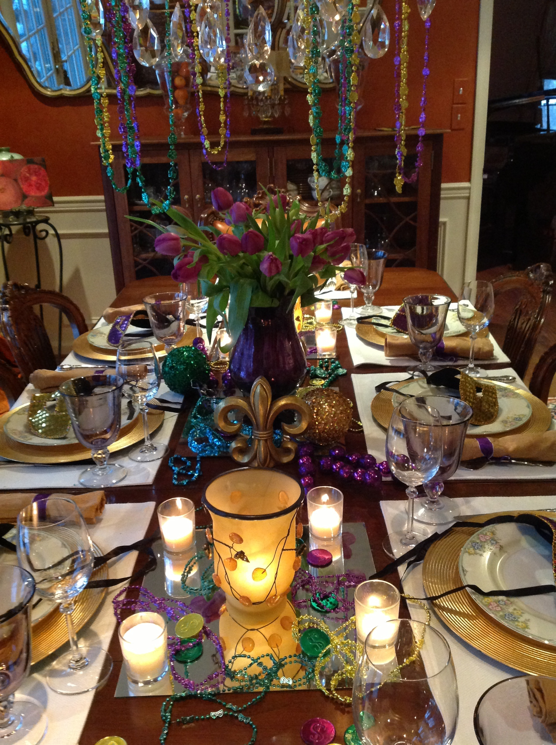 ... image This year Mardi gras(Fat ... : mardi gras table settings - pezcame.com