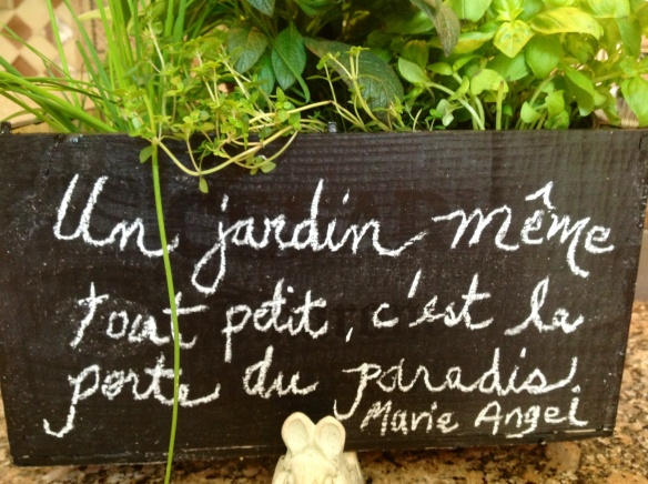 Pesto recipe now becomes a French gardening quote!
