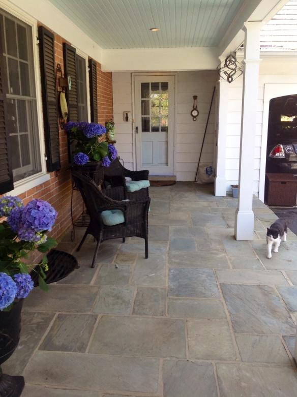 View from the front door to the mud room door