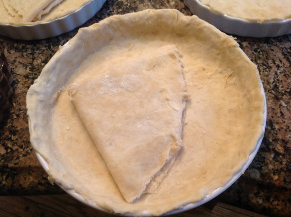 Prepare the dough for a double pie crust