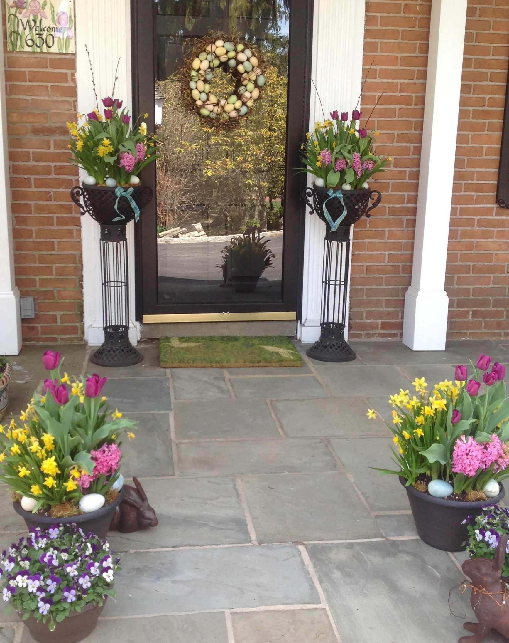 Easter Welcome On The Front Porch French Gardener Dishes