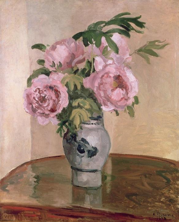 Camille Pisarro's A Vase of Peonies, 1875, Ashmolean Museum, Oxford, UK