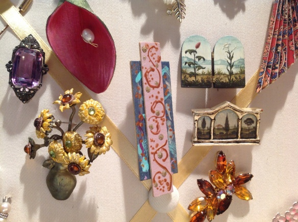 Hand painted pieces by American artist Christina Goodman