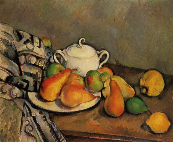 Sugarbowl, Pears and Tablecloth, Paul Cézanne, 1894, POLA Art Foundation, Tokyo, Japan