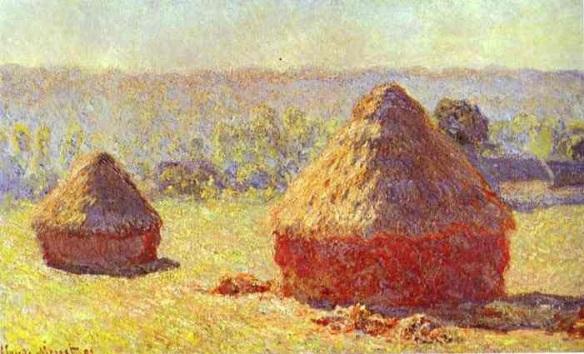 Claude Monet, Haystacks, End of the Summer Morning, 1891, Musée du Louvre, Paris, France