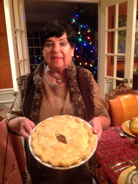 My beautiful 83 years young mom with one of her delectable creations!