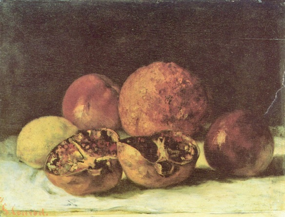 Gustav Courbet, Pomegranates, 1871, oil on canvas