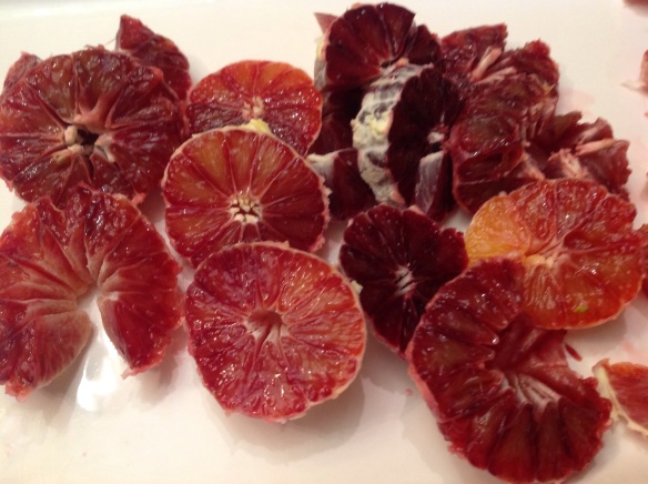 Look at all the different colors in those gorgeous blood oranges!