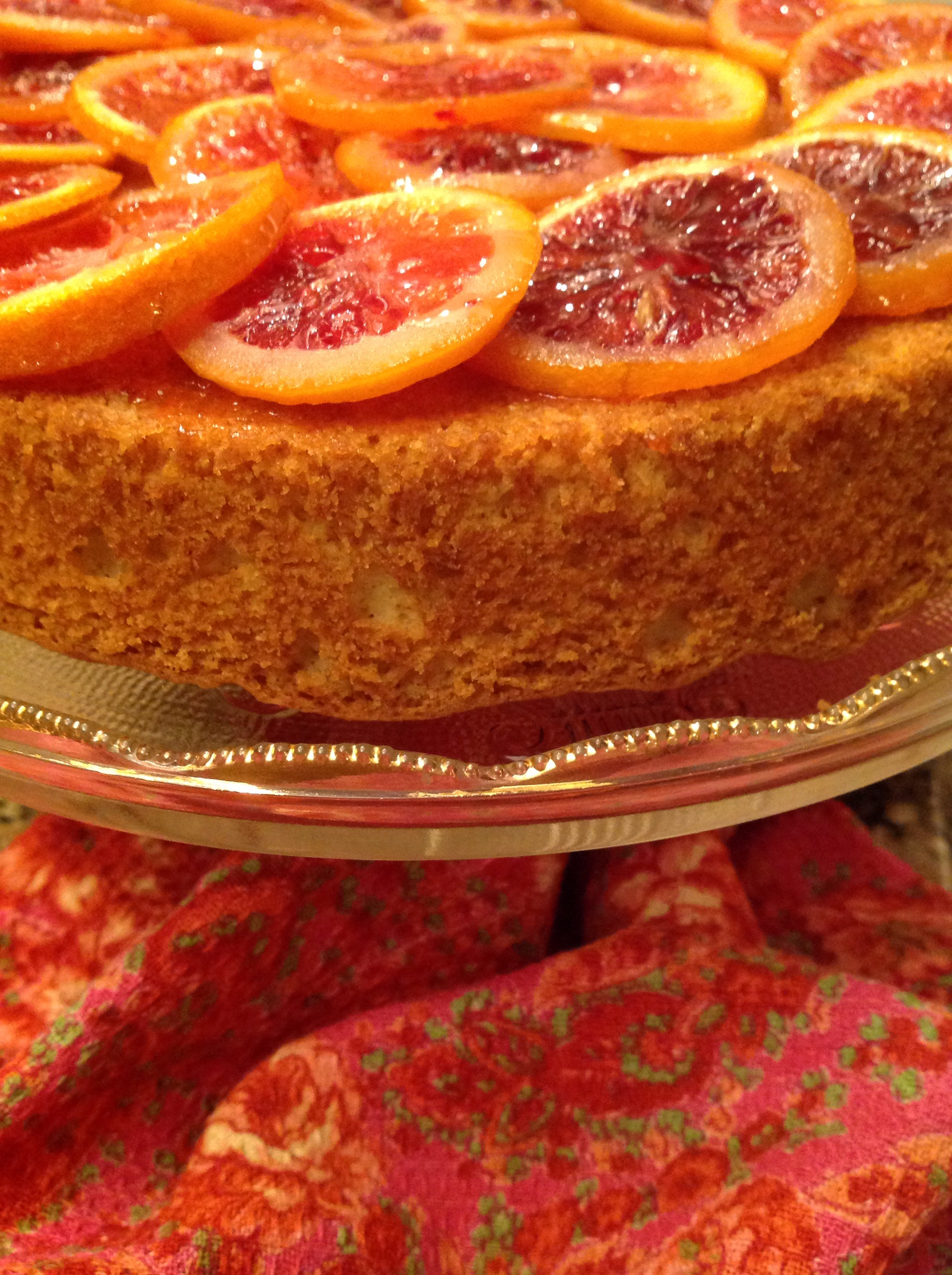 Olive Oil Cake with Candied Blood Oranges | French Gardener Dishes