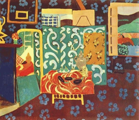 Henri Matisse , 1911, interior with Aubergines, Grenoble Museum, France