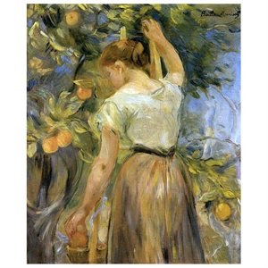 Young Woman Picking Oranges, Berthe Morisot, 1889