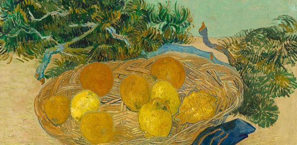 Vincent Van Gogh, 1889, Still Life of Oranges and Lemons with Blue Gloves, National Gallery of Art, Washington, DC