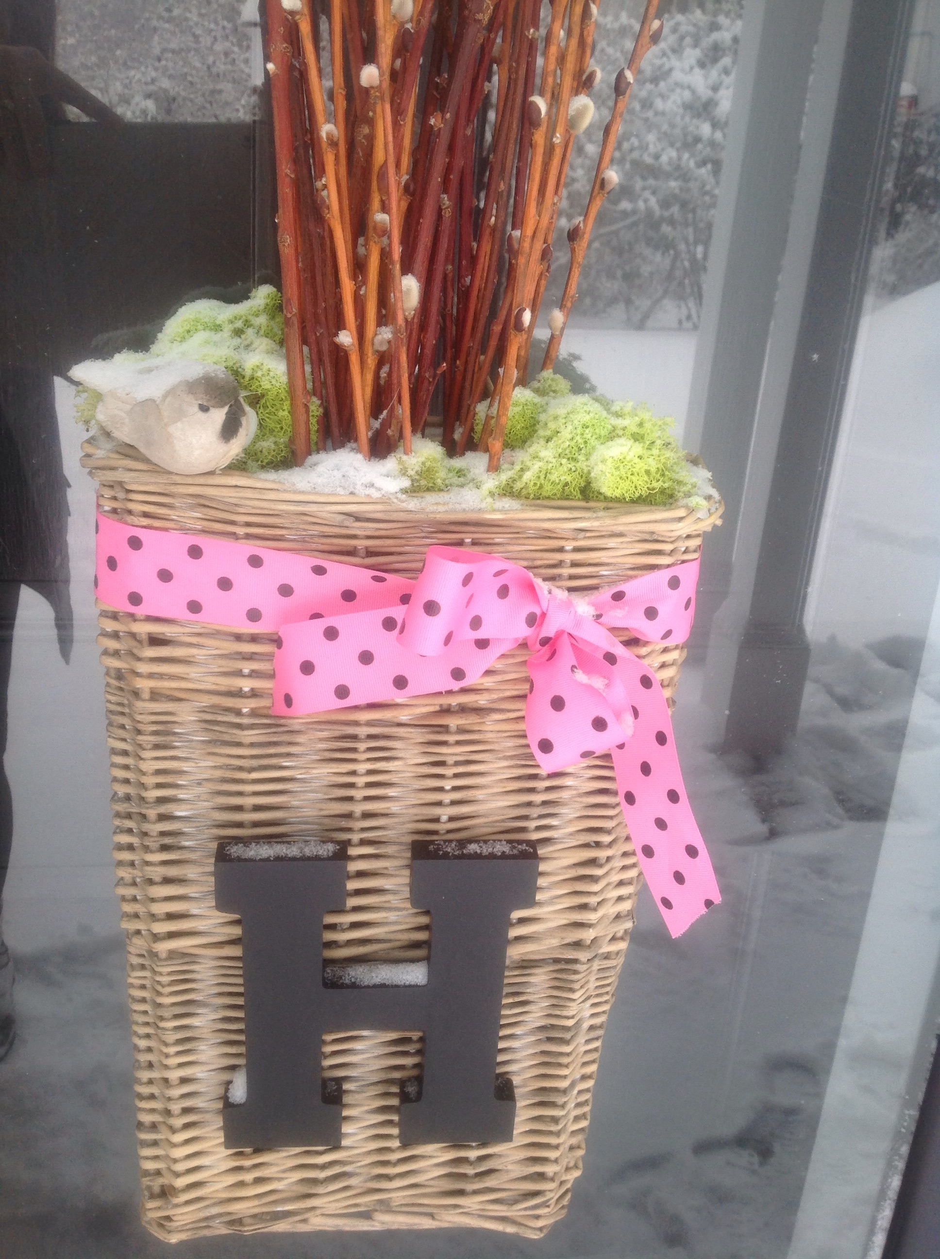 Dreaming Of Spring Front Door Basket And A Flower Show