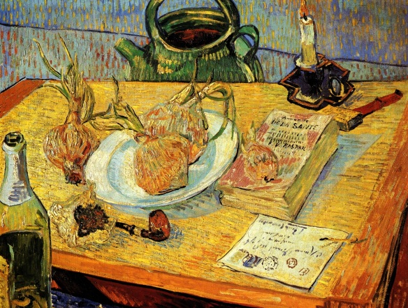 Pipe, Onions and Sealing Wax, Vincent Van Gogh, 1888, Riksmuseum Kröller-Müller, Otterio, Netherlands