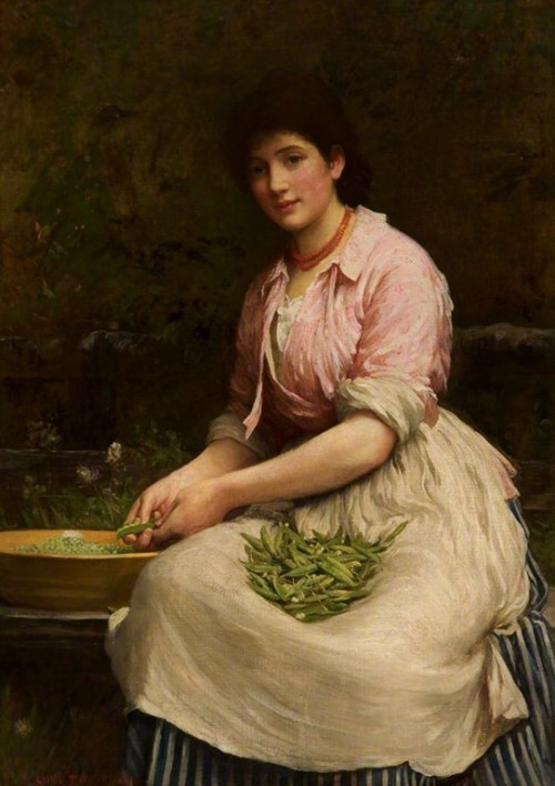 Girl Shelling Peas, 1881, Samuel Lukes Fildes Image courtesy of Tumblr