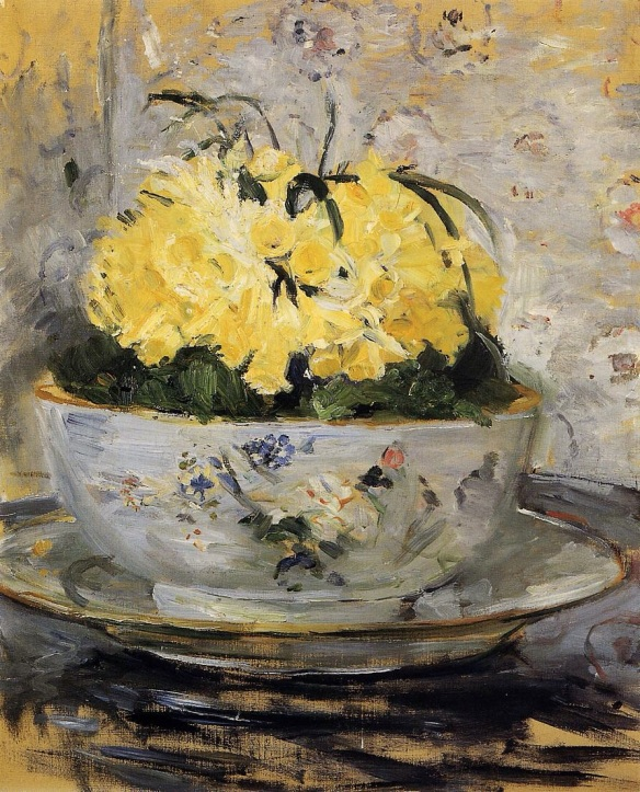 Daffodils by Berthe Morrisot, 1885, Private Collection  Image courtesy of wikiart.org