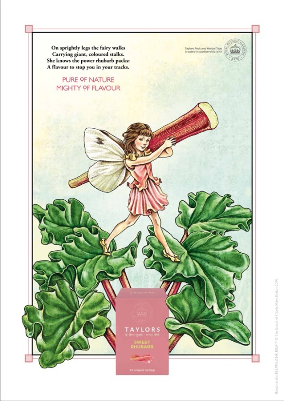 Advertising art by Cicely Mary Barker for Taylors of Harrogate Tea company