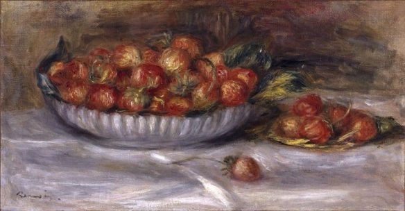 Still Life with Strawberries Pierre Auguste Renoir, 1914, Brooklyn Museum