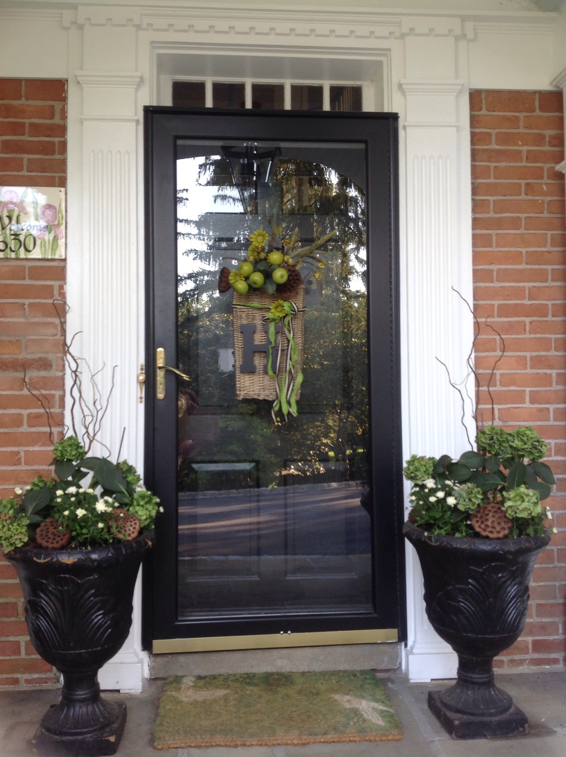 Fall Front Door Basket French Gardener Dishes