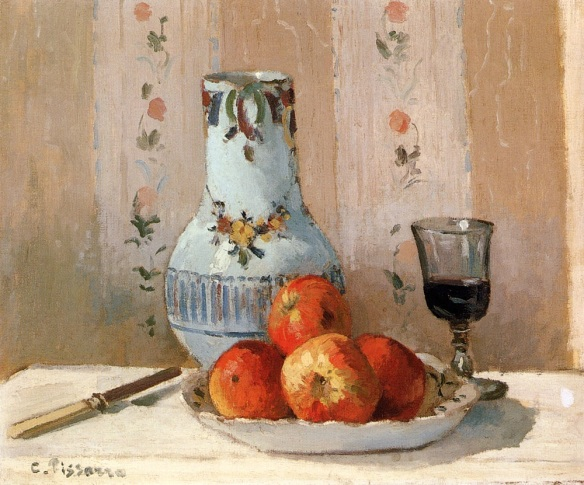 Still Life With Apples and Pitcher, Camille Pissarro, 1872, The Metropolitan Museum of Art, NYC