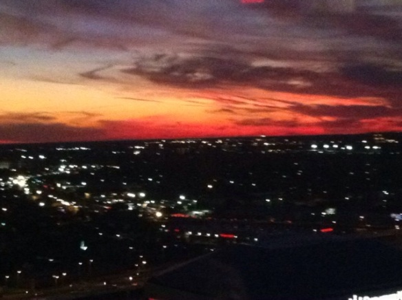 Sunset over The Big Easy
