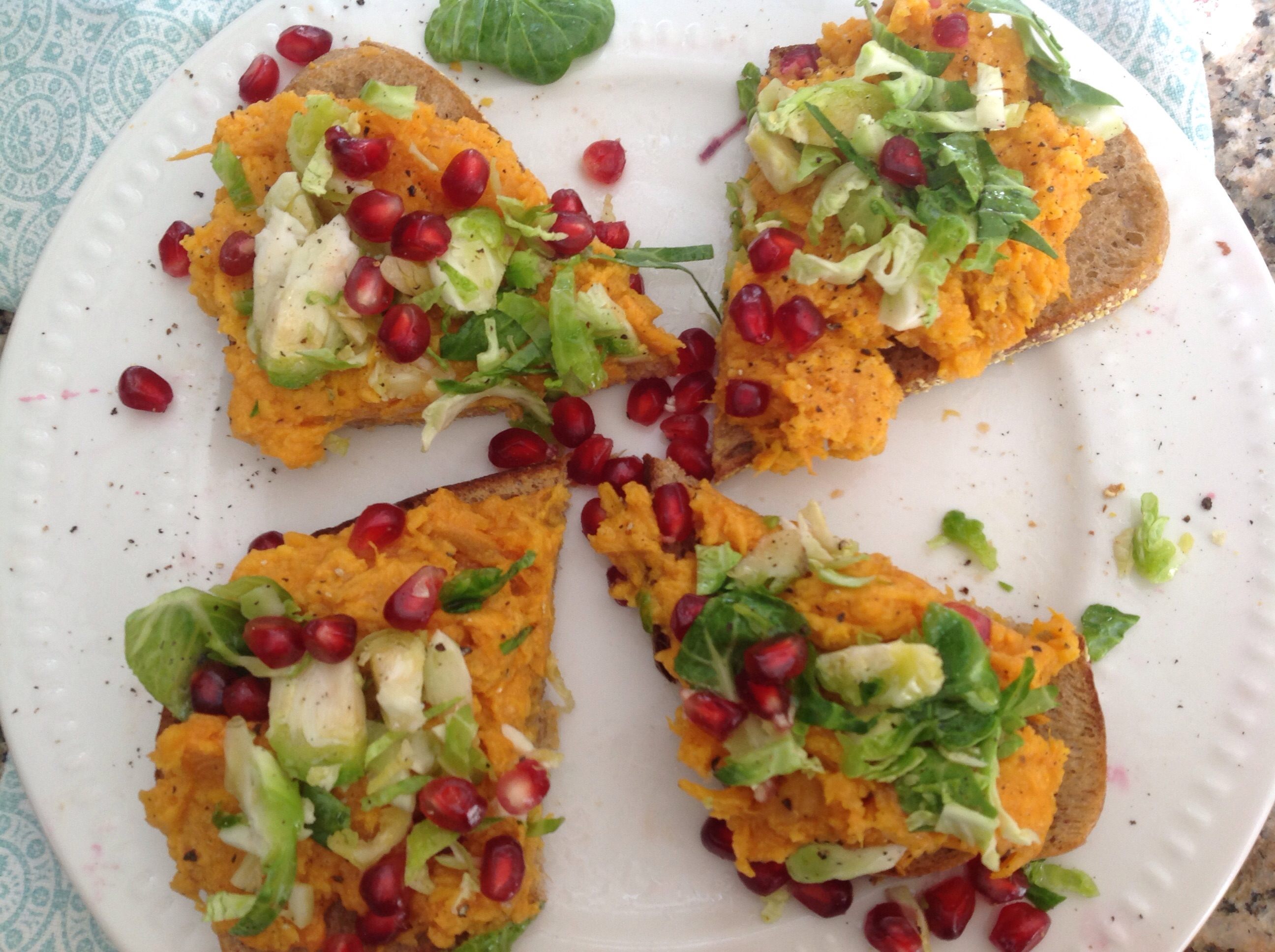 Smashed Sweet Potato Toast with Maple Caramelized Onions ...