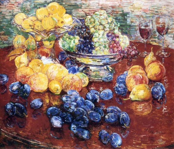 Childe Hassam, Still Life with Fruit, 1904