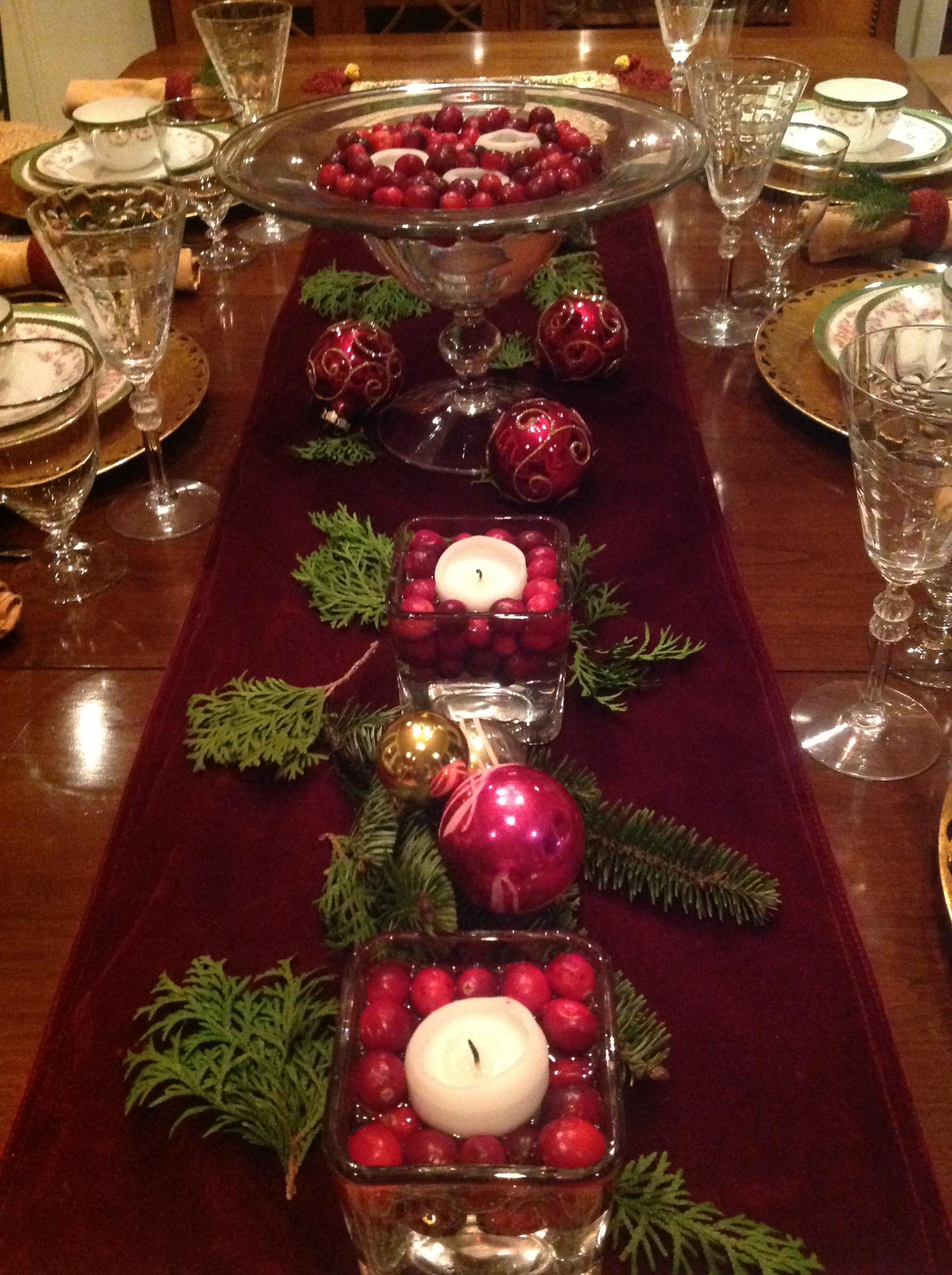 Elegant Christmas Table Setting French Gardener Dishes