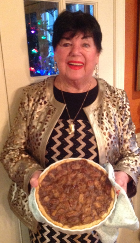 The legendary family cook with her famous pecan pie.