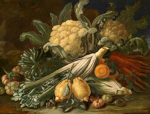 Tommaso Real Fonso, Still Life with Vegetables, 18th Century