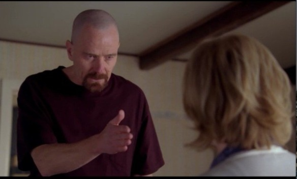 """You clearly don't know who you're talking to, so let me clue you in. I am not in dangerr, Skyler. I AM the danger. A guy opens his door and gets shot, and you think that of me? No! I am the one who knocks."" Bryan Cranston as Walter White, Breaking Bad"