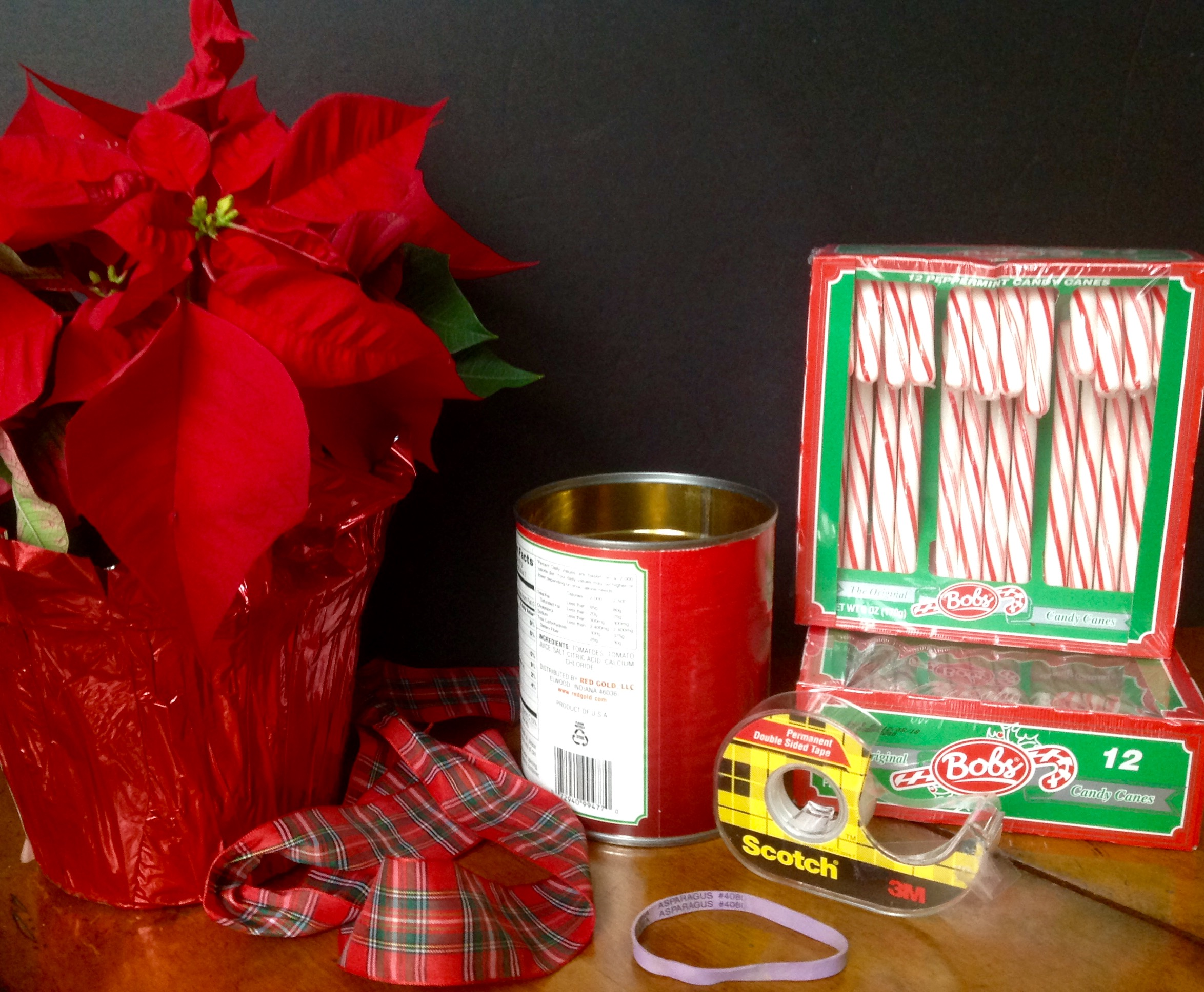 Candy cane poinsettia centerpiece diy french gardener dishes